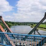 Verrotte Eisenbahnbrücke über die Ruhr bei Dalhausen