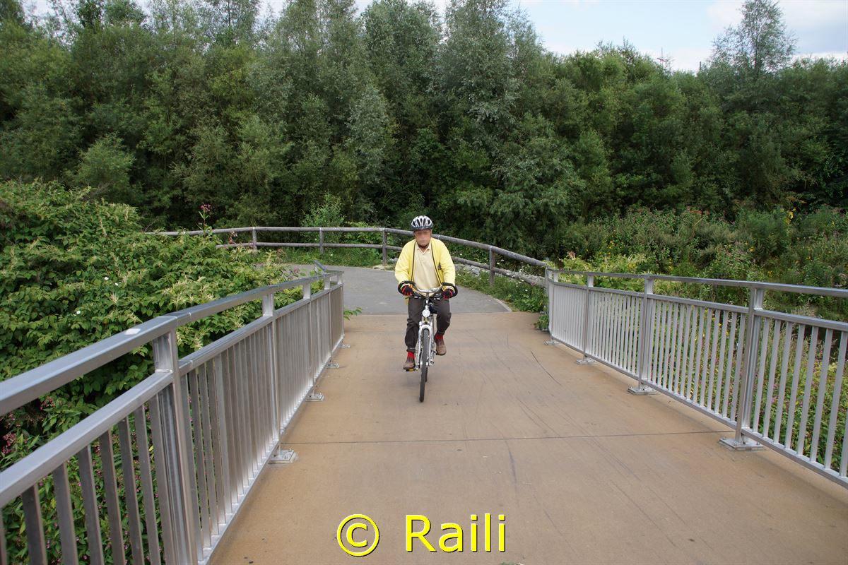 Brücke über einen Nebenarm der Ruhr in Essen Heisingen