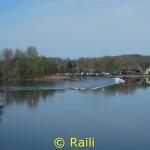 Ein Blick auf das Rollwehr von Dahlhausen