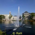 Springbrunnen auf der Ruhr