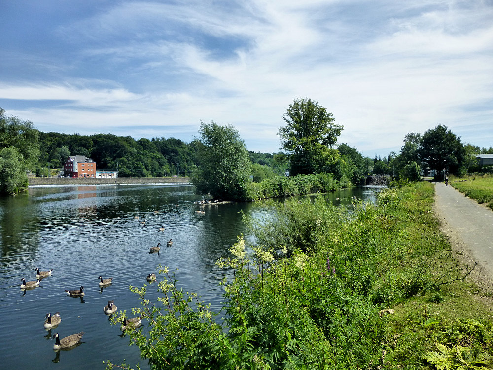 Ruhrsee vor dem Stauwehr in Mühlheim Sarn